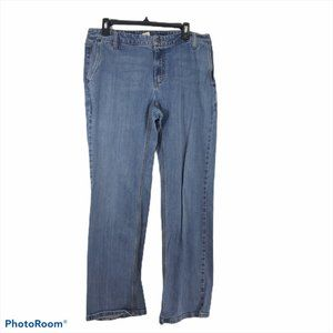 Liz Claiborne Sz 14 Med. Wash Slim Boot Cut Denim